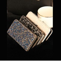 Luxury Diamond Rhinestone Bling Case Pouch For Apple iPhone 5 5G