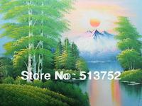 Oil Painting Landscape Handmade Tree Art