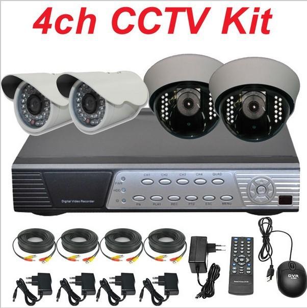 Free shipping dropship wholesale cctv system 4ch cctv kit set c