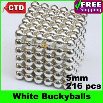 White 216pcs Diameter 5mm Neocube Magic Cube Magnetic Balls Buckyballs