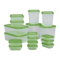 17piece/set plastic  food storage box, crisper, kitchen food container