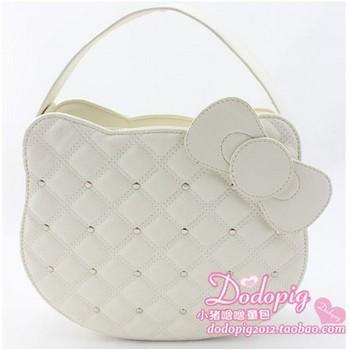 2013 Hello kitty handbag women messenger bag Hello kitty products purses totes Girl party bag Chain kids shoulder bag Wholesale