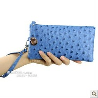 Korean version of the female ostrich wallet fashion clutch evening bag high-grade PU cell phone bag wholesale, free shipping