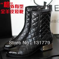 free shipping 2013 fashion women's spring and autumn boots women's winter shoes sheepskin rubber boots women platform shoes