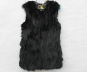 Модный Женщины 100% Genuine Fox Мех Длинный Жилет Gilet Талияcoat Warm Winter