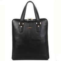 Business Portable briefcase genuine leather handbag bag vertical section men and Women commercial briefcase 90076-3
