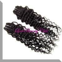 The Wonderful  Hair Products Fast Shipping 100% real Hair deep wave one pcs Hair Weave Extensions,Deep Curly Wave
