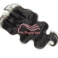 Perfect razilian virgin hair closure body wave 3 part closures 6a remy virgin lace closure
