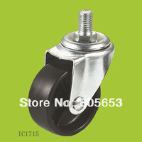 Zinc plated Black threaded stem casters(IC1715)