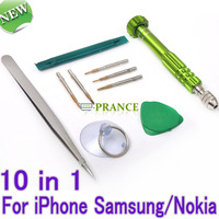 10 in 1 Screwdriver Set Cell Phone Repair Multi Tools Disassemble Ferramentas Kit For iPhone4/iPhone4S/iPhone5/Samsung/Nokia S50