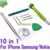 10 in 1 Screwdriver Set Cell Phones Repair Multi Tools Disassemble Ferramentas Kit For iPhone 4/iPhone 4S/iPhone 5/Samsung/Nokia