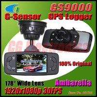 100% Original GS9000 H.264 Ambarella Car DVR Camera recorder GPS/G-Sensor Full HD1920x1080p 30FPS/2.7' LCD/HDMI/178 degrees lens