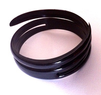 Latest DIY 120pcs/lot Black Plastic Hair Ring Hair Accessory