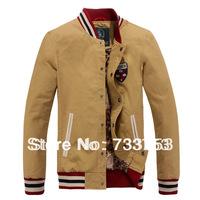 2014 new spring men's casual cotton outdoor jackets baseball uniform jacket male Korean version of the Slim Collar Jacket SD350