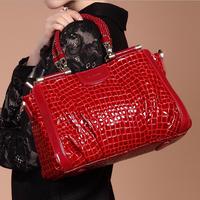 2014 Fashion Bags Handbags design brand Women Bags Patent Leather Vintage Messenger Bags Crocodile Female Bolsos Mujer aj Bag
