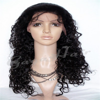 Free Shiping  100% Malaysian Remy Virgin Jerry Curly human hair Glueless Cheap Full Lace Wig Virgin Hair for Black Women
