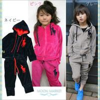 2pcs/set Kids Baby kids Polo Suit Boys Girls clothes Long Sleeve Sport coats + Pant Sport Hoodies Children Clothing c0020