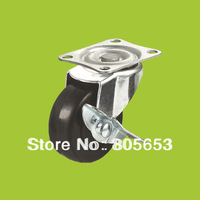 Swivel top plate industrial Plastic duty castor with brake(IC16A)