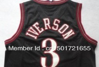 2013 Most Hotsale Philadelphia Allen Iverson top quality mens Basketball Jerseys Sport Jerseys home away white black blue