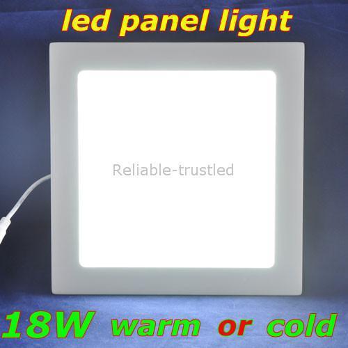 Wholesale - LED Panel light SMD2835 led ceilingAC85-265Vwarm white/cold white1600lm18W square shape mini led pan(China (Mainland))