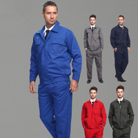 FREE SHIPPING Set of Long-sleeve coat+Pants Workwear clothes working uniform factory working uniform outdoor uniform