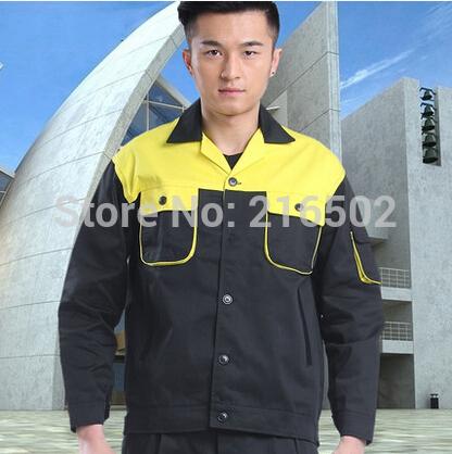 FREE SHIPPING Set of Jacket+Pants short-sleeve automotive service uniform car service clothes mechanic clothes(China (Mainland))