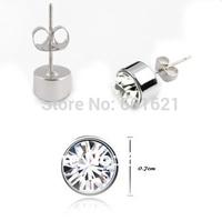 Wholesale jewelry 18k white gold plated rhinestone alloy stud austrian crystal stud earrings