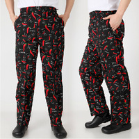 FREE SHIPPING  pepper pants 100% cotton pants  cook pants chef pants