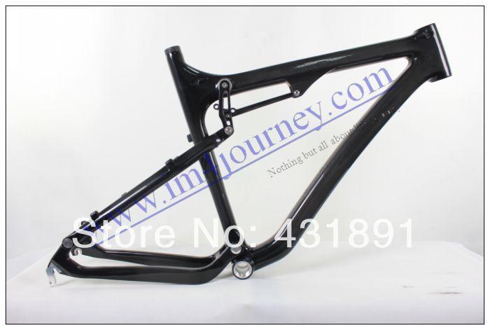 Best Hot Carbon Mountain Bike Downhill Frame, Full Suspension Frame, MTB Frame, Frameset B043 with EPS Monocoque Molding()