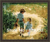 JIUJIU DIY digital oil painting Free shipping the picture arcylic paint 40X50cm Child life unique gift paint by number