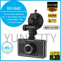 "Car DVR RY540 Original Novatek 96650 WDR GPS G-Sensor 3.0"" Touch Screen HD 1080P 170 Degree Wide Angle 60FPS Night Vision Camera"