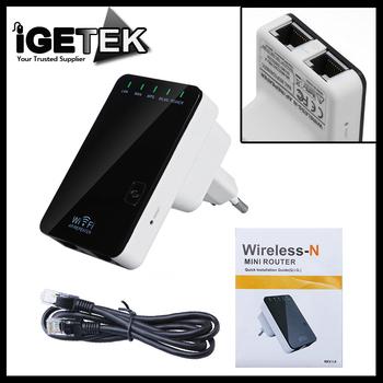 Wireless-N Wifi Router AP Repeater Booster Amplifier LAN Client Bridge IEEE 802.11 b/g/n 300Mbps EU Plug Wi fi  Roteador