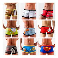 Novelty Lovers/Couples/Boyfriend and Girlfriend Sexy Cartoon Patterned Underwear Men's Boxer Cartoon Underwear