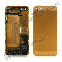 Free Shipping 3D Diamond Back Housing Cover with Battery+Sim Card Tray+Anti Dust Mesh+Screws Spare Parts for iPhone 5