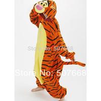 Tiger   Pajama 1pcs   Pyjamas Cosplay Costume Fleece Lovely Tiger Winter Pyjamas Adult Sleepsuit  retail