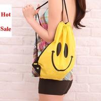 Free shipping 2014 new fashion  Beach darling a multi-purpose bag  shoulder bag beach bag Drawstring bag with smile
