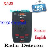 100% Conqueror Radar Original Detector X523 with Super Signal Russian Upgrade Version of X323 Super Advanced X-523