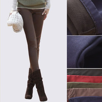 6366 casual trousers plus size pants plus velvet thickening elastic pencil pants female