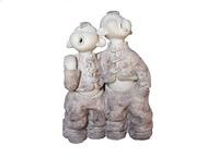 Brothers   (ceramic art by  handmade) 16*20*28