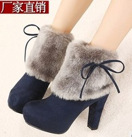 new 2013 HOT high quality! womenl's anti-slip Winter Snow boots lady platform Thicken footwear shoes 4 colors Free Shipping 03