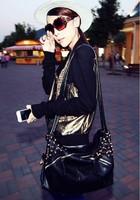 0260 Free Shipping  SALE Female 2013 fashion scrub rivet bag messenger bag multi-purpose women's handbag big bags
