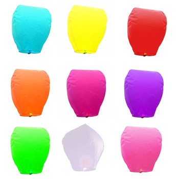 Free shipping,Wholesale 30pcs/lot Chineses Kongming Lantern Wishing Llight Sky Lantern Floating Flying Paper Lanterns