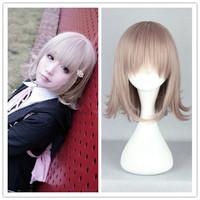 Free Shipping cheap 35CM Super Dangan Ronpa 2  chiaki taro Color  Anime Cosplay Costume Wig