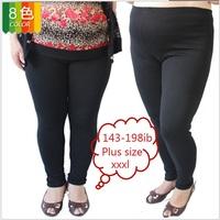Free shipping 2013 autumn - winter women's plus size leggings, fat woman big size cashmerelike warm legging, black 9-CVC-XXXL