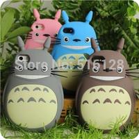NEW ARRIVAL South Korea Fashion cute Cartoon 3D Dragon Cat 5 5S Silicon case Totoro Protective case for Iphone 4 4S rubber case