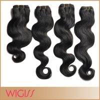 "natural black big body wave brazilian virgin hair extensions 12""-24"" mixed length 100% unprocessed hair H6002AZ  DHL"