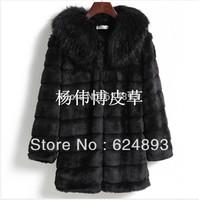 Hot-selling winter women's Faux fur coat medium-long fur coats elegant overcoat luxury fur coat M