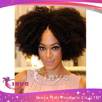 2013 TOP SELLING!!! Brazilian human hair curly afro wigs for black women,glueless u part wig,short wig,130%-150%density