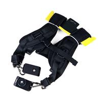 Photography Black Double Shoulder Belt Camera Strap for 2 Canon Nikon DSLR SLR