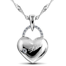 popular sterling silver heart pendant